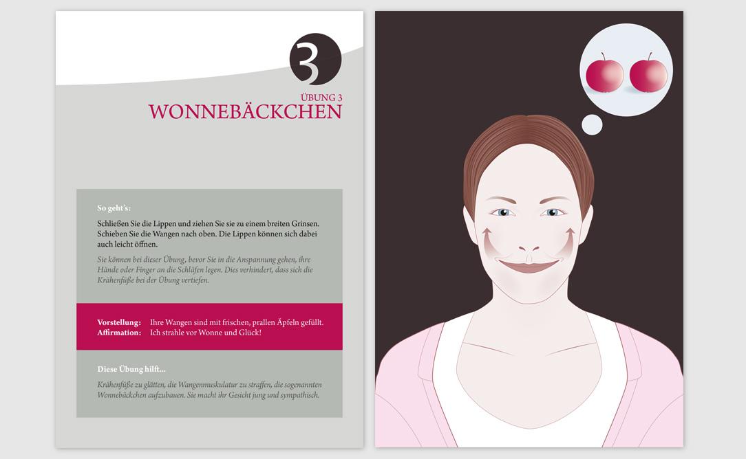 Beispiel einer illustrierten Übungskarte